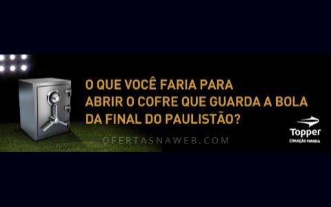 Concurso cultural final do paulistão topper Brasil.