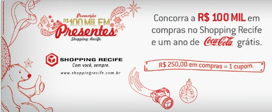 R$ 100 mil em presentes shopping