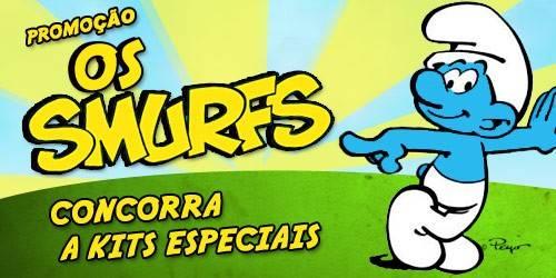 Concorra a kits dos Smurfs