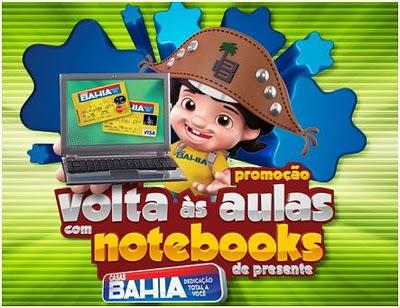 Promoção Casas Bahia volta as aulas
