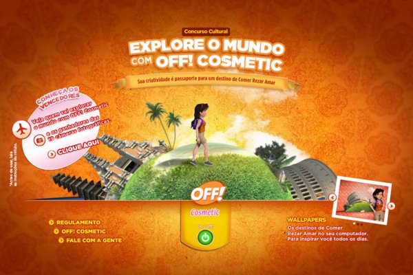 explore o mundo com off cosmetic