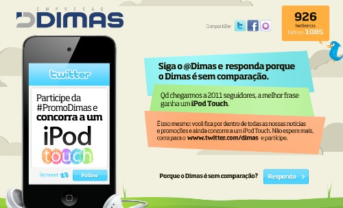 sorteio de iPod Touch