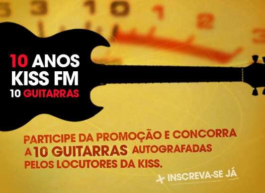 Kiss FM sorteia 10 guitarras