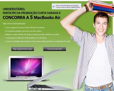promoção saraiva macbook air