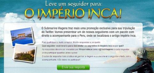 submarino promoção imperio inca