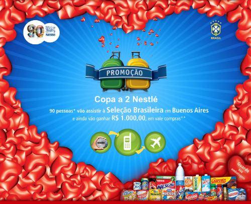 Promoção Copa a 2 Nestle