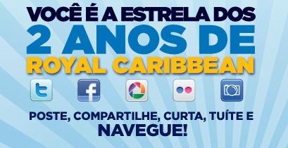 Concurso Royal Caribbean dois anos no Brasil