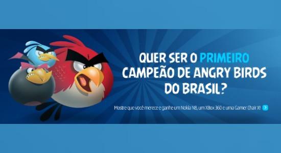 promoção nokia angry birds