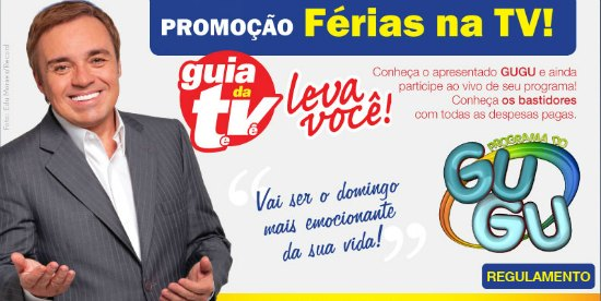 promoção ferias na tv guia da tv