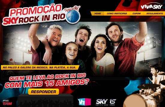 promoção sky rock in rio