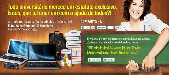 Concurso Estatuto Universitário Saraiva