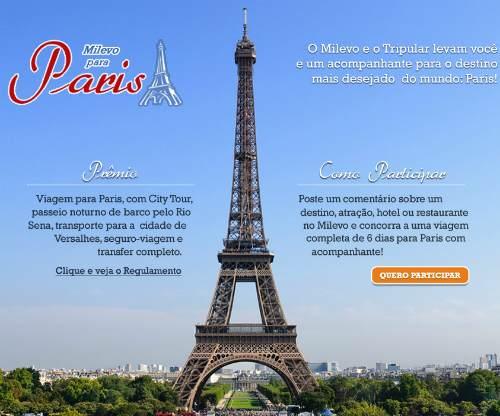 Promoção Milevo para Paris
