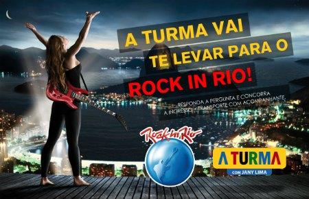 quem vai te levar pro Rock in Rio