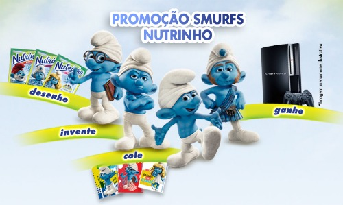 Promoção os Smurfs
