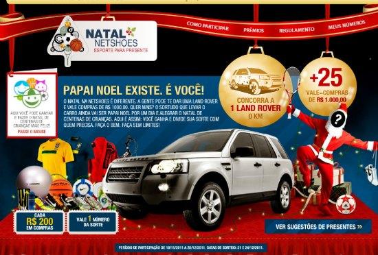 promoção natal netshoes